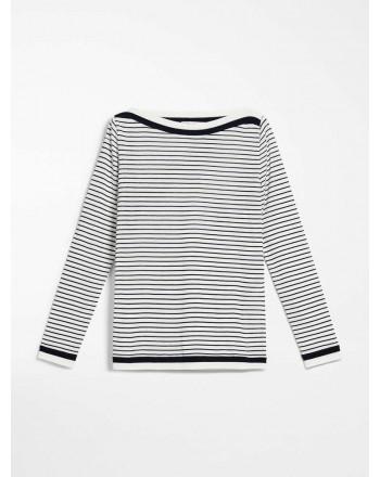 MAX MARA - T-shirt in jersey di cotone - UGOLINA -Bianco/Blu