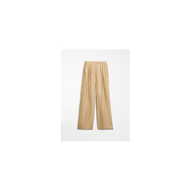 MAX MARA - Pantaloni lino e seta - RIVIERA - Cammello