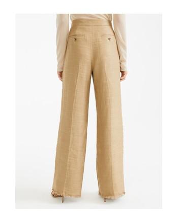 MAX MARA - Linen and silk trousers - RIVIERA - Camel