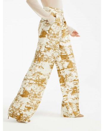 MAX MARA - Pantaloni in twill di seta - ACUME - Oro