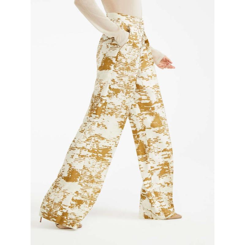 MAX MARA - Pants in silk twill - ACUME - Gold