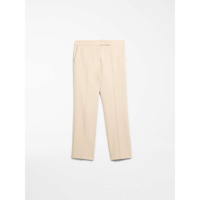 MAX MARA - Pantaloni in gabardina di lana - VICOLO - Albino