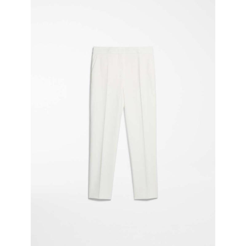 MAX MARA - Pantaloni in jersey di viscosa - PEGNO - Bianco