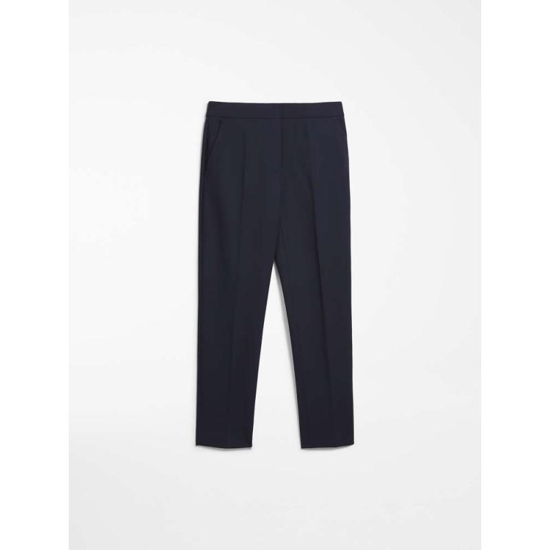 MAX MARA - Viscose jersey trousers - PEGNO - Navy blue