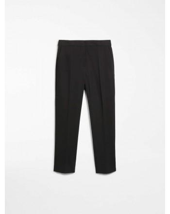 MAX MARA - Viscose jersey trousers - PEGNO- Black