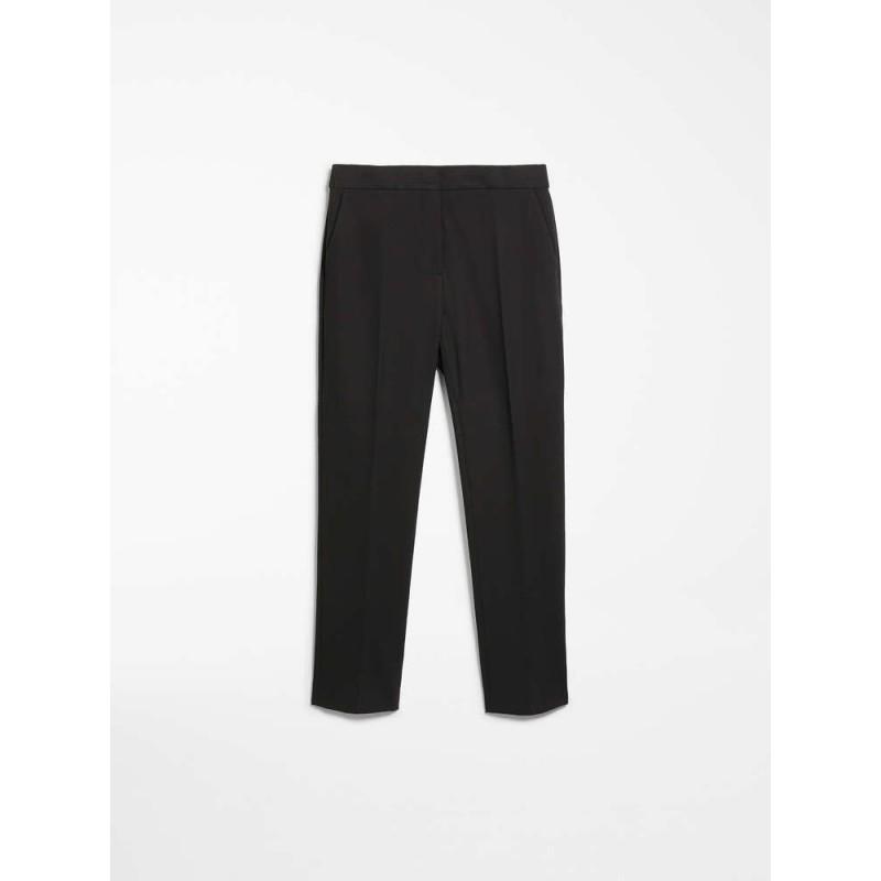 MAX MARA -Pantaloni in jersey di viscosa - PEGNO- Nero