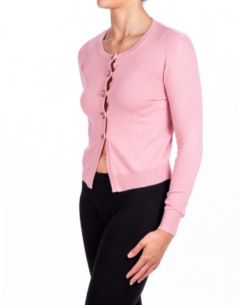 PINKO - DOMINICAN Cardigan in mixed wool - Pink