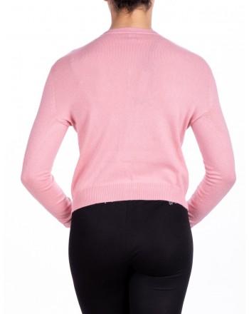PINKO - DOMINICAN Cardigan in mixed wool - Pink