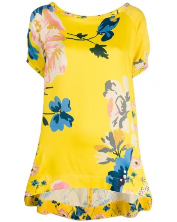 ANTONIO MARRAS- Viscose Blouse with Flowers Print- Yellow