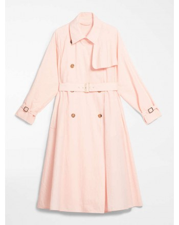MAX MARA - COTTON BLEND CANVAS TRENCH - FALSTER - PINK