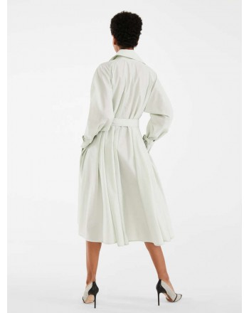 MAX MARA - COTTON BLEND CANVAS TRENCH - FALSTER - LIGHT GREEN