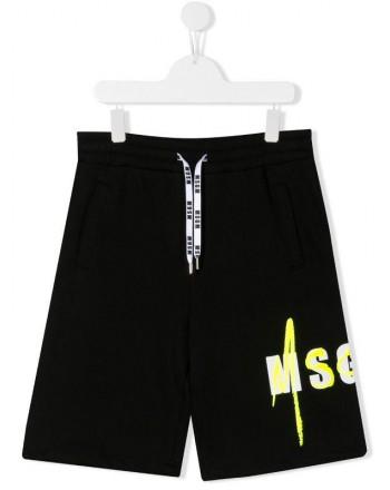 MSGM Baby- Cotton Bermuda Shorts- Black