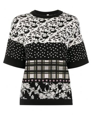 ANTONIO MARRAS- Roundneck Patterned Knit - Black/White