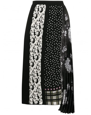 ANTONIO MARRAS- Midi Pleated Skirt - Black/Silver