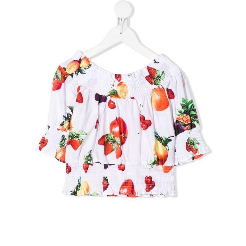 MSGM Baby- Blusa Stampa Frutta - Bianco