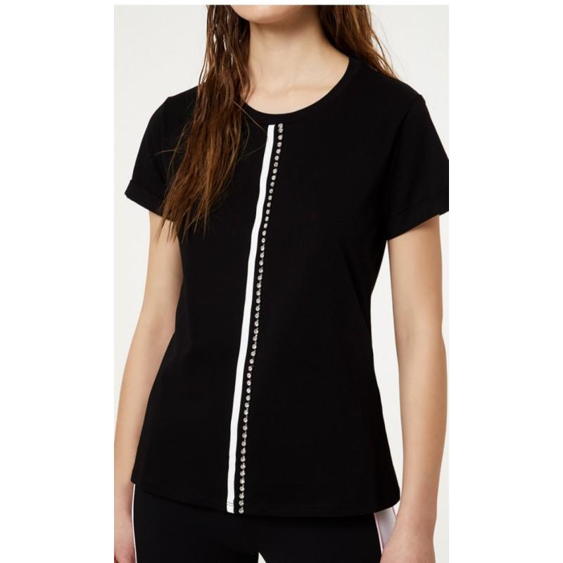 LIU-JO Sport - T-Shirt gioello - Nero