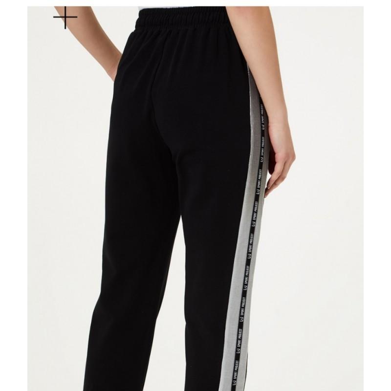 LIU-JO Sport - Pantalone con dettagli in lurex - Nero