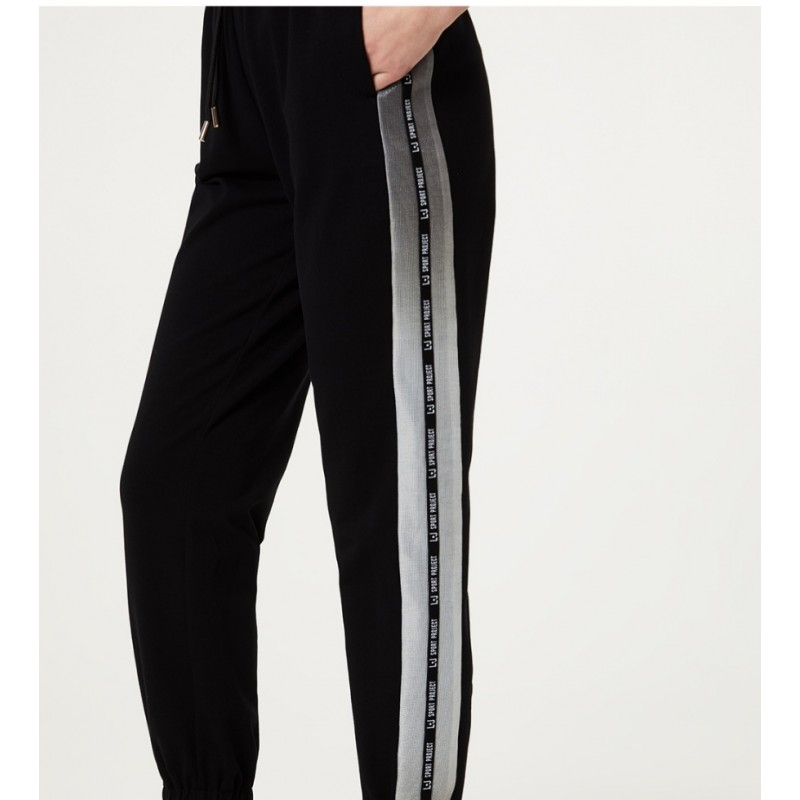 LIU-JO Sport - Sweatpants with lurex details - Black
