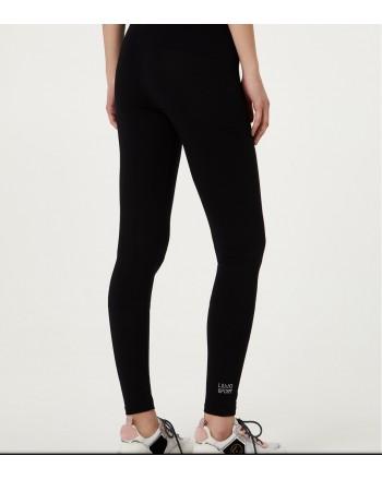 LIU-JO Sport - Logoed leggings - Black