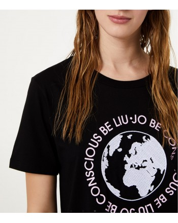 LIU-JO Sport - T-shirt eco friendly - Nero