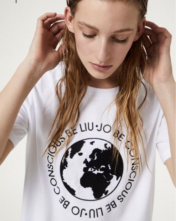 LIU-JO Sport - T-shirt eco friendly - Bianco