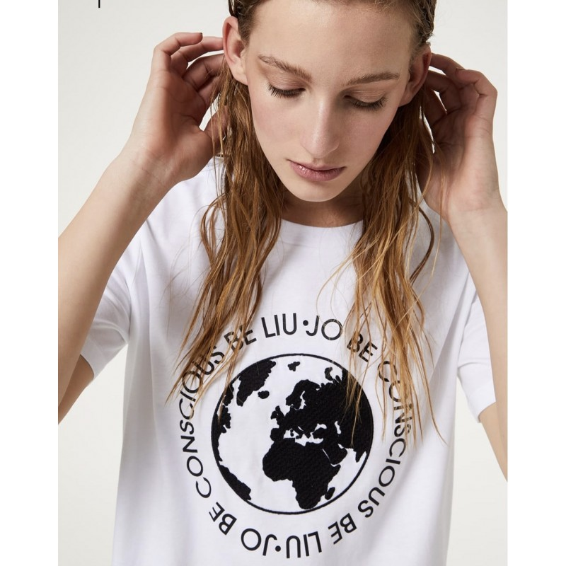 LIU-JO Sport - T-shirt eco friendly - Bianco