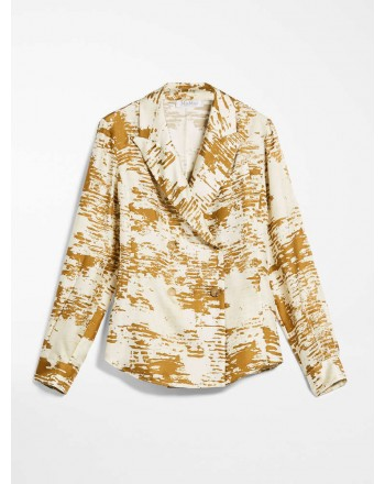 MAX MARA - SILK TWILL SHIRT - ERIS - GOLD