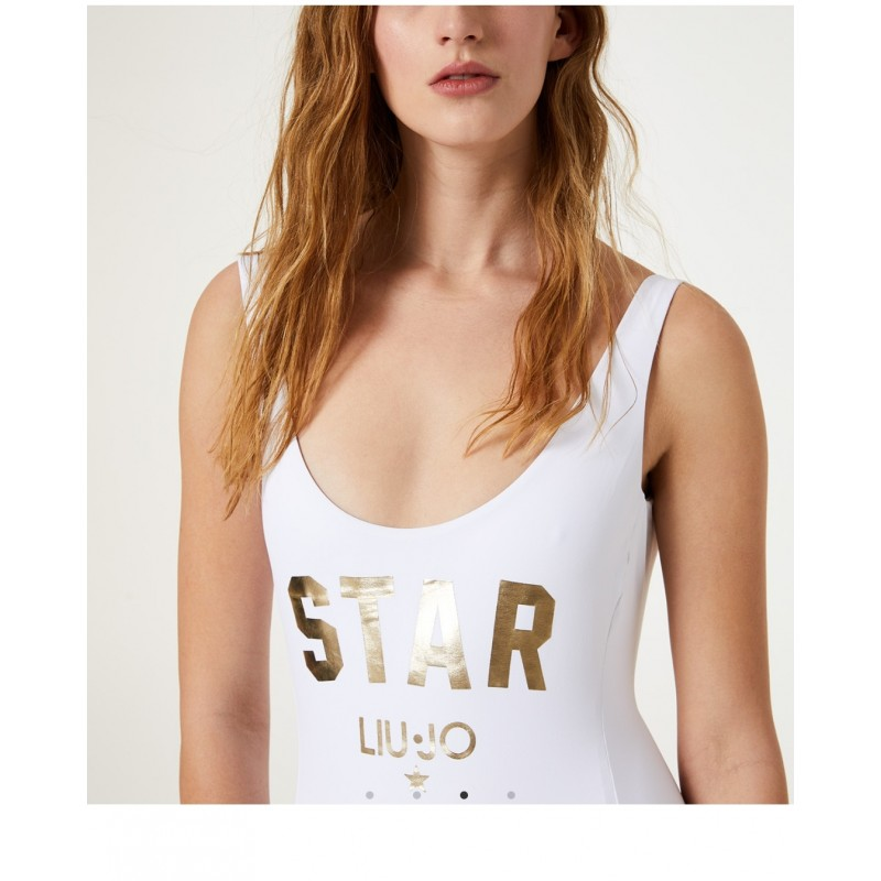 LIU- JO SWIMWEAR- Star Swimsuit - White
