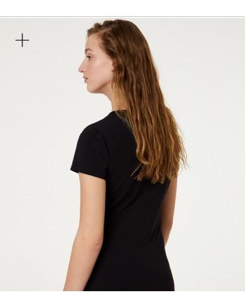 LIU- JO- Animalier Logo T-Shirt - Black/Tropical Animalier
