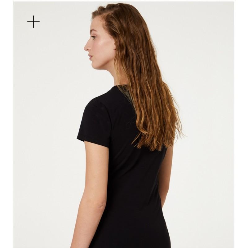 LIU-JO - T-Shirt Logo Maculato- Nero/Maculato Tropical