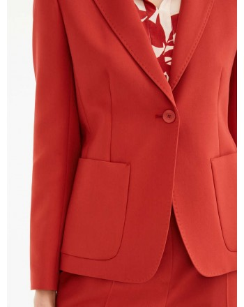 MAX MARA STUDIO - TENDA Cotton Crepe Blazer - Rust