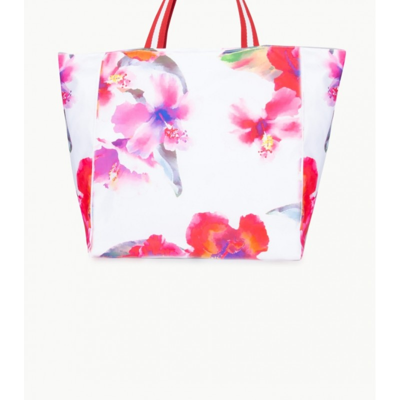 LIU- JO BEACHWEAR  Beach Bag -Flowers/White