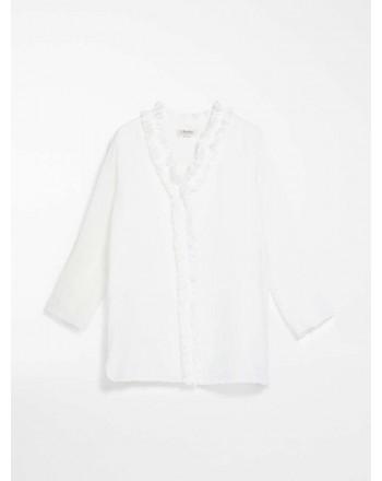 S MAX MARA - Camicia in tela ramiè - GABRY - Bianco