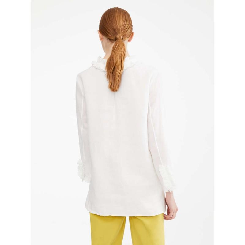 S MAX MARA - Shirt in ramie canvas - GABRY - White