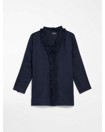 S MAX MARA - Shirt in ramie canvas - GABRY - Summer Blue