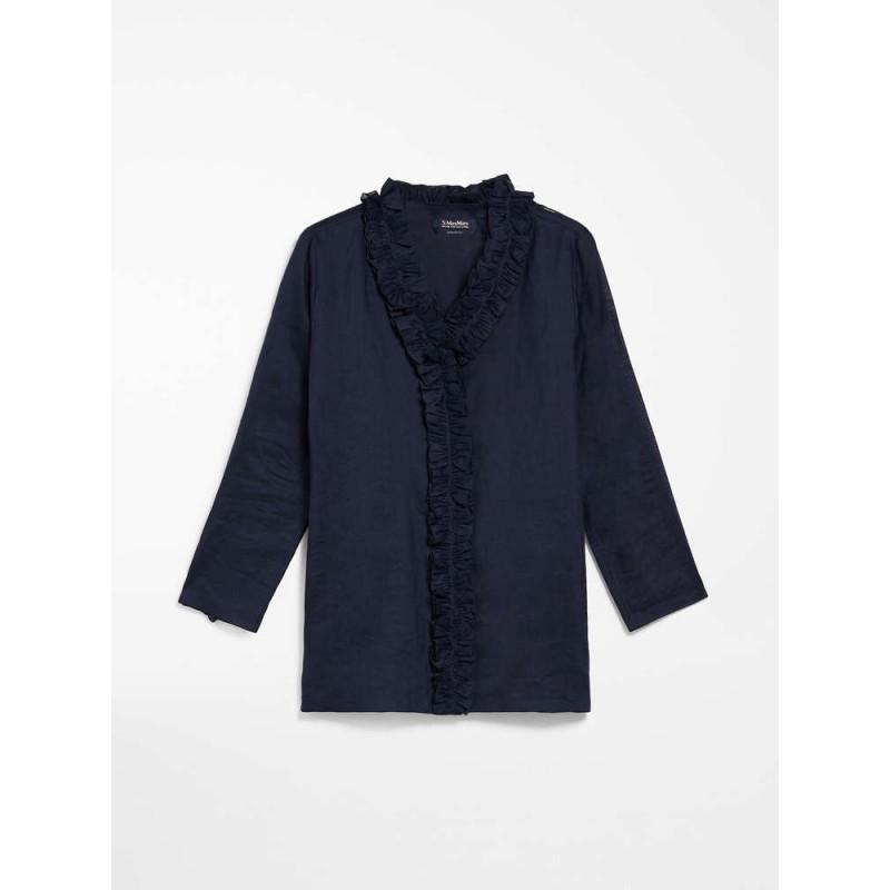 S MAX MARA - Camicia in tela ramiè - GABRY - Summer Blu