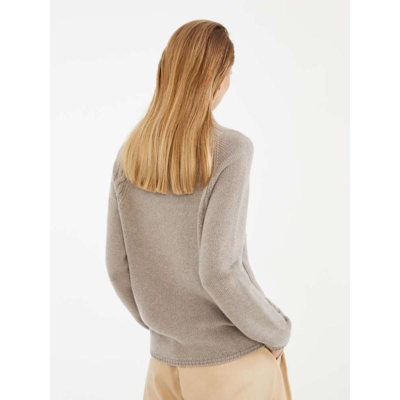 S MAX MARA - Cashmere yarn sweater - NARVEL - Soft gray
