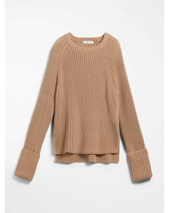 S MAX MARA - Cotton cord sweater - BUGIA - Desert camel