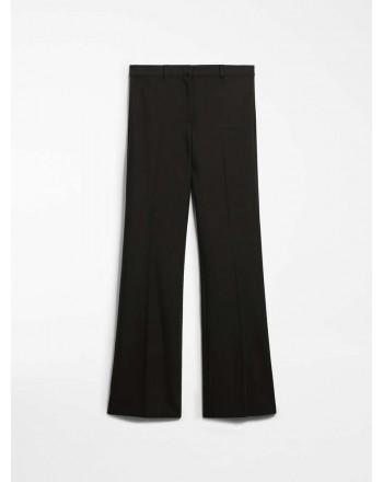 S MAX MARA - Pantaloni in cotone e viscosa - LANDA - Nero