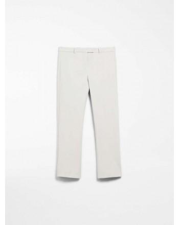 S MAX MARA - Pantaloni Cotone e viscosa - COLBERT - Ecrù