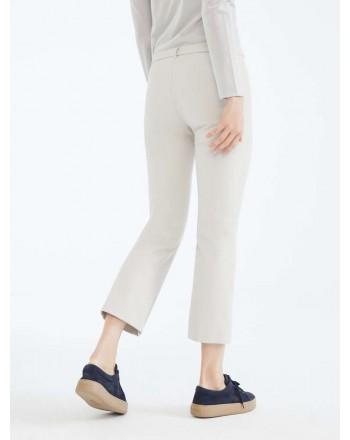 S MAX MARA - Cotton and viscose trousers - COLBERT - Ecrù