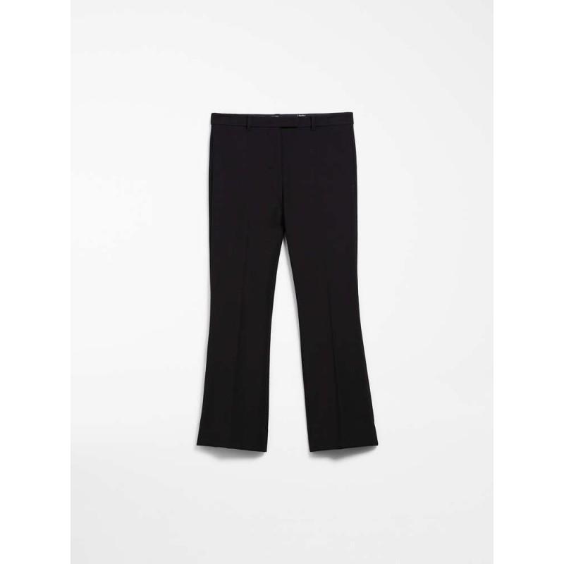 S MAX MARA - Pantaloni Cotone e viscosa - COLBERT - Nero