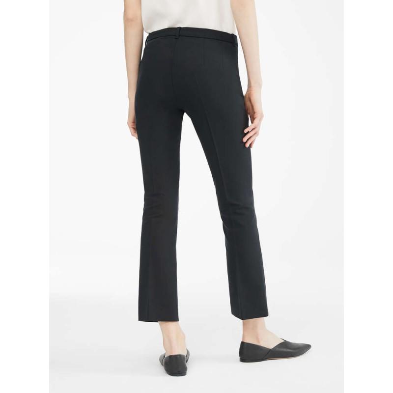 S MAX MARA - Cotton and viscose trousers - COLBERT - Black
