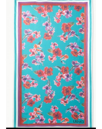 LIU- JO BEACHWEAR  -Flowers Printed Pareo - Flowers/Tropical