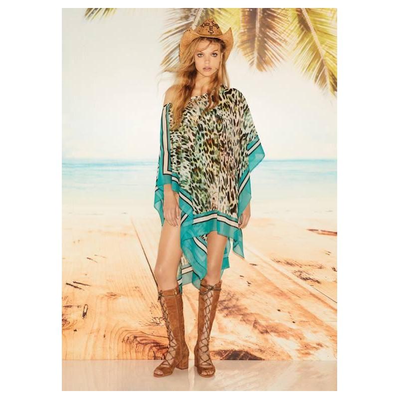 LIU- JO BEACHWEAR  -Animalier Printed Kaftan - Tropical Animalier