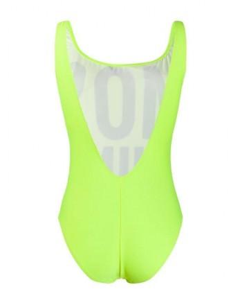 Moschinomare d -  ONE PIECE SWIMSUIT FLUORESCENT YELLOW PRINT