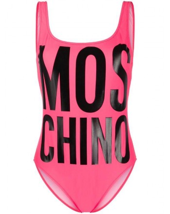Moschinomare d - ONE PIECE SWIMSUIT FLORESCENT FUCHSIA PRINT