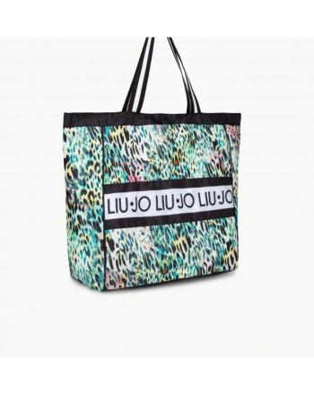 LIU- JO BEACHWEAR  Beach Bag -Tropical Animalier