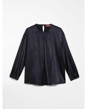 MAX MARA STUDIO - CAFILA Silk Shirt - Blue