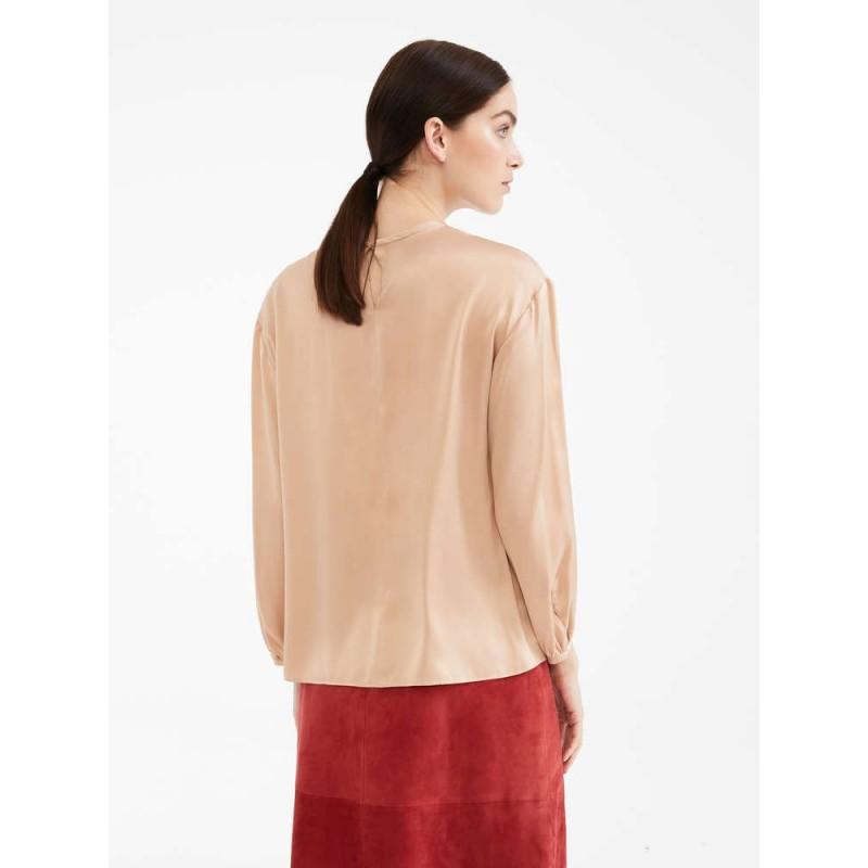 MAX MARA STUDIO - CAFILA Silk Shirt -Nude